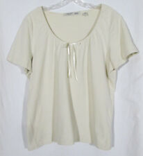 Faded Glory Stretch Womens XL Cotton/Spandex Tan Tee Blouse