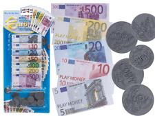 Pièce de Monnaie faux Billet Plastique  Cash Euro Notes Pièces Jouet 90 pièces