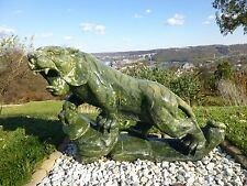 GREEN NEPHRITE CHINESE TIGER STATUE