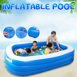 3 Layers Kids Adult Inflatable Swimming Pools Family Above-Ground Pool Home