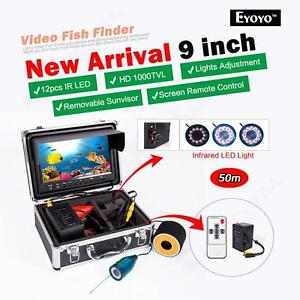 "EYOYO 9"" 50M Fishing IR Camera Underwater Fish Finder Monitor w/Remote Control"
