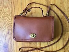 VTG COACH Casino Shoulder Bag Handbag Purse • Brown GloveTanned Leather USA •EUC