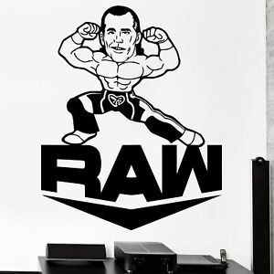 Beautiful Game WWE Wall Decal RAW Smashed Arena Vinyl Sticker Decal Kids Mural Art Wrestling 60cm x 30cm