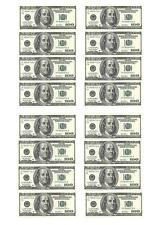 16 Dollars Money Edible Cupcake Fairy Cake Toppers Rice Paper decoration