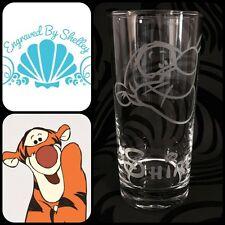 Personalizzata Disney Tigro di vetro fatto a mano & INCISIONE NOME GRATIS! Winnie the Pooh