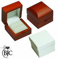 BJC 9 ct Oro amarillo Topacio Azul & Diamante Tamaño P anillo de compromiso R216