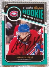 Montreal Canadiens Aaron Palushaj Signed 11/12 O-Pee-Chee Marquee Rookie Card
