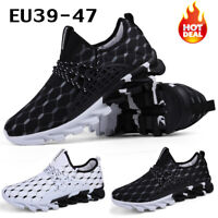 Mens Sneakers Lace Up Casual Walking Running Gym Sports Shoes Athletic Trainers