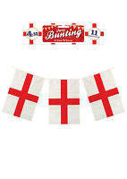 St Georges Day English PVC Bunting 11 Flags 4m Party Flags Hanging Garland F3025