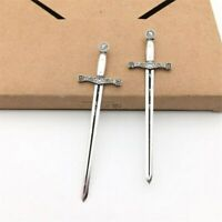 1/12 Scale Sword Medieval Knight Crusader Antique Silver Dolls House Accessories