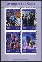 Madagascar 2019 MNH Avengers Endgame Thor Captain America Hulk 4v M/S Stamps