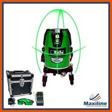 Green Beam 4V1H Self Level Cross Line Laser Level with Detector Glasses Battery