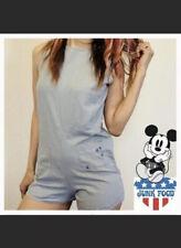Junk Food Disney Mickey Mouse Romper Xxl Linen Shorts Blue Gray Nwt