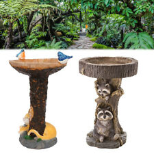 More details for garden traditional ornament bird bath water bowl with planter outdoor home decor