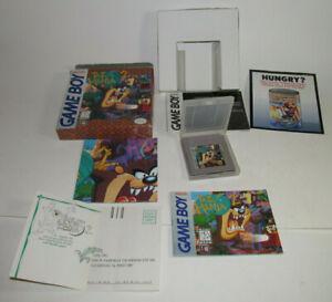 Tazmania 2 (Nintendo Game Boy, 1994) Complete CIB w/ Poster & Registration