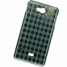 For MetroPCS LG Spirit 4G TPU CANDY Flexi Gel Skin Case Phone Cover Clear Plaid