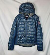 Canada Goose Hybridge Packable Down Jacket Men's Medium Blue Puffer Hoodie