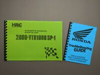 Honda VTR1000 SP-1 2000 Factory Workshop Racing Service Owner Manual +Parts List