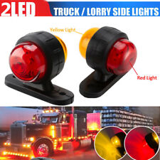 2PCS 12-24V Truck Grille Strobe Lights Side Marker Flashing Warning 2-color Lamp