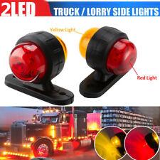 2pcs 12 24v Truck Grille Strobe Lights Side Marker Flashing Warning 2 Color Lamp Fits Rsx