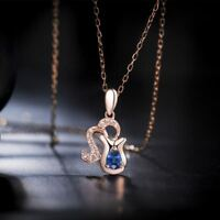 Steel Delicate Crystal Women Constellation Jewelry Rose Gold Plated Necklace