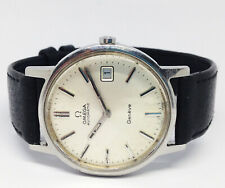 Vintage Men's OMEGA Geneve Automatic Watch. 35mm Case. Silver Dial. Date.