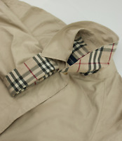 Burberry London Nova Check Trench Car Coat Womens Size UK 16 XL Rain Jacket Mac