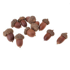 10pcs Rustic Christmas Decorations Crafts Home Table Ornaments Dried Acorns