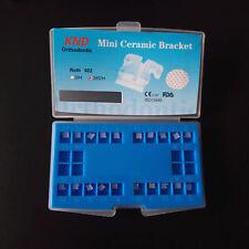 10 kits Dental orthodontic ceramic bracket brace mini roth slot 022 345 hooks