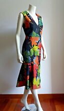 ❄New # SPORTMAX by MAX MARA Printed Dress in Jersey and Silk/Wool Blend  size M
