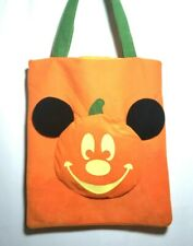 Disney Parks Glow In The Dark Mickey Mouse Trick Or Treat Bag, Orange / Green