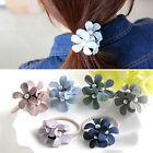 Girls Elastic Hair Ropes Pearl Flower Hair Bands Women Fashion Hair Accessories