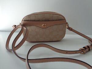 COACH  F73953 Khaki/Beechwood Signature C Jacquard Convertible Belt bag