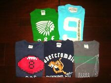 Abercrombie Kids Boys S 7/8 5pc Shirt Lot Football Muscle Fit