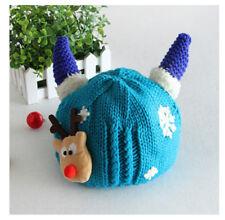 Niño Bebé Caliente De Invierno De Punto Gorra De Ganchillo Gorro de ganchillo Navidad Reno Regalo
