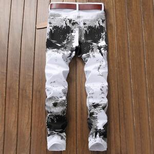 MENS Jeans STRETCH Slim Fit Trousers Casual Pants Biker Jeans Fashion
