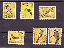 1701+  CAMBODGE   SERIE TIMBRES  OISEAUX 1996