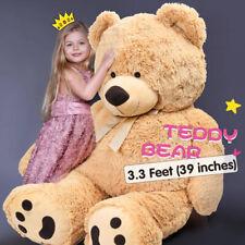 "39"" Giant Teddy Bear Plush Stuffed Big Animal Toys Valentine Kids Birthday Gifts"