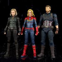 Avengers Endgame Super Hero Black widow Captain Marvel America Captain Figure