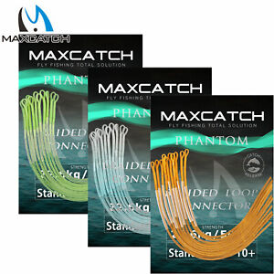 Maxcatch 10PCS 30/50lb Fly Fishing Braided Leader Loop Connectors Line