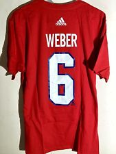 adidas  NHL T-Shirt Montreal Canadiens Shea Weber Red sz L