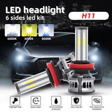 H11 H8 H9 6Sides LED Headlight Bulbs 3Colors CANBUS Hi/Low Beam Fog Light 6000K
