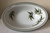 Vintage BAMBOO 10 1/2 inch Oval Serving Bowl China RC Made In Japan 232 EUC