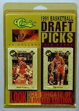 1991Classic NFL Basketball Draft Picks Trading 50 Card Set New with COA