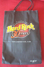 "Rare Hard Rock Cafe 30 years paper bag with handles & 3 leaflets 13x9"", 33x23cm"