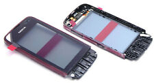Original Nokia Asha 311 Touchscreen Digitizer Touch Glass Incl Frame Ear Cups