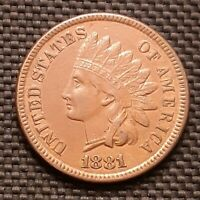 1881 Indian Head Cent/Penny - Extremely Fine XF EF