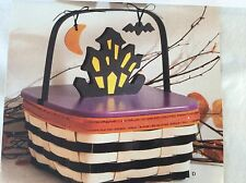 Halloween Basket HALLOWS EVE Haunted House Lid TIE ON Protector Longaberger NEW