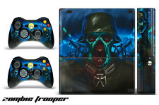 Skin Decal Wrap for Xbox 360 E Gaming Console & Controller Sticker Design ZOMBIE