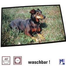 lavable Tapis Chien Pinscher nain 75x120cm lavable Mill Dog Edition